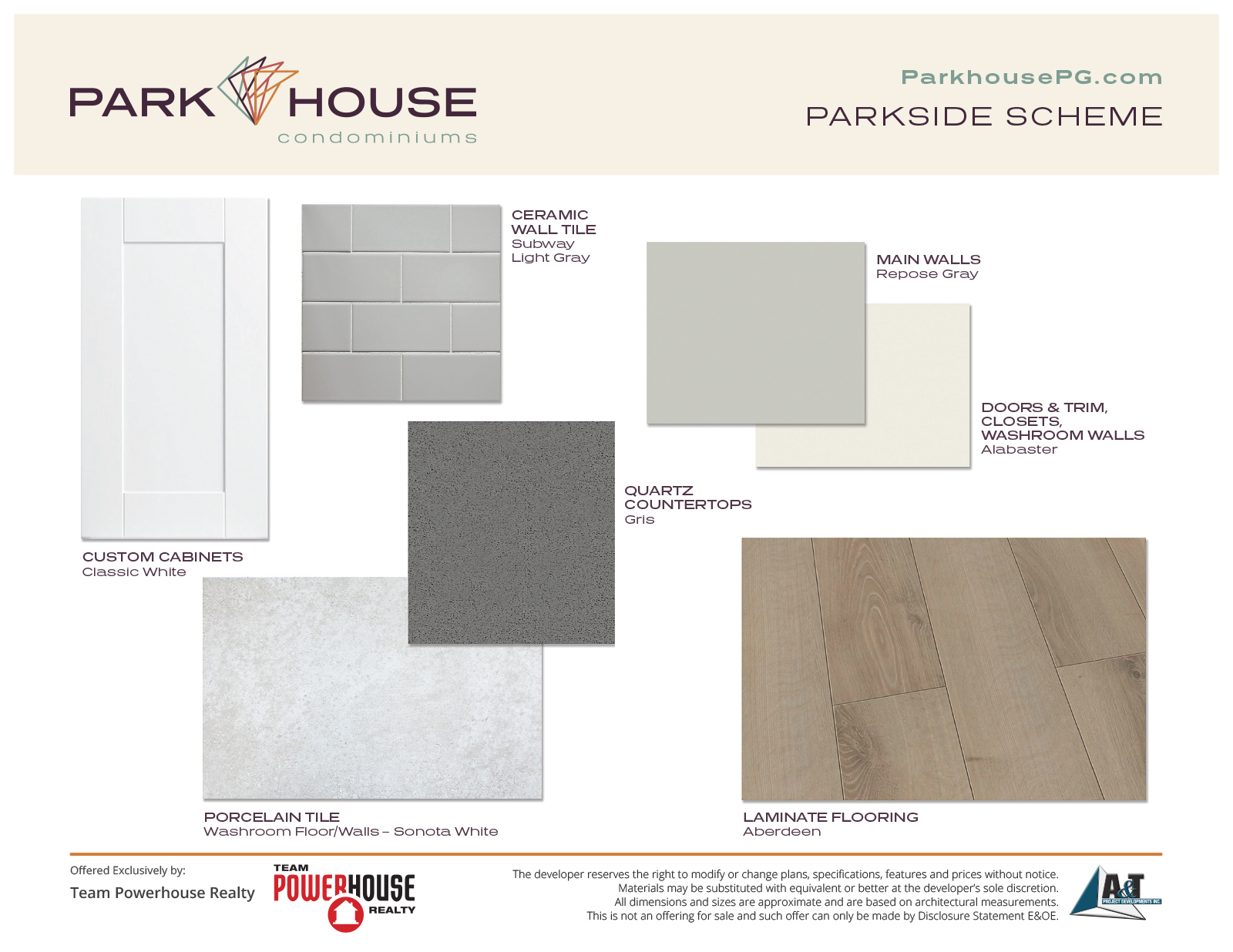 Parkside Finish Scheme